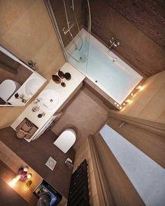 Вариант планировки ванной комнаты 5 кв м - Дизайн интерьеров | Идеи вашего дома | Lodgers