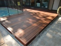(Don't use merbau!) timber deck over concrete