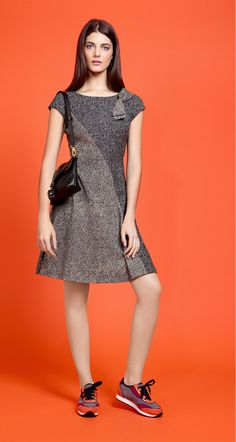 Tweed jacquard dress - Dresses - Collection - Fall-Winter 2015-16