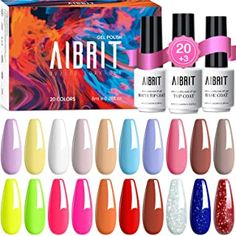 best nail gel brand Glitter Gel Polish, Best Gel Nail Polish, Pastel Nail Polish, Gel Polish Colors, Uv Gel Nail Polish, Uv Gel Nails, Manicure, Diy Nails, Home Gel Nail Kit