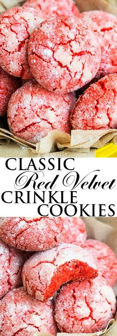 This easy classic RED VELVET CRINKLE COOKIES recipe from scratch is made with simple ingredients. They are crispy on the outside but soft on the inside.