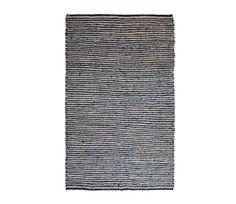 Vloerkleed Runway zwart met jute 170x240 cm BePureHome - Zwart icm jute
