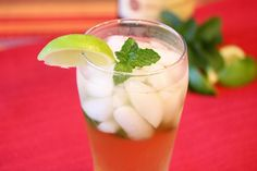 Ginger Mint Sipper (with or without alcohol)  Looks so refreshing