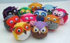 New felt owls by kangaroo pals, via Flickr