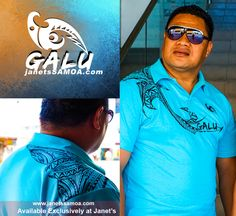 Janet's - Galu Polo - Stingray Light Blue, 74.80 WST (http://www.janetssamoa.com/galu-polo-stingray-light-blue/) GALU Samoa presents PACIFIC STINGRAY. The Stingray (Fai) was revered in Samoan Mythology. This design shows the Stingray gliding through the warm Pacific Waters.  Introducing GALU: A New Brand of Samoan Clothing for Men Made in the Pacific from100% breathable cotton.