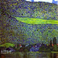 Unterach at the Attersee, Gustav Klimt (1915)
