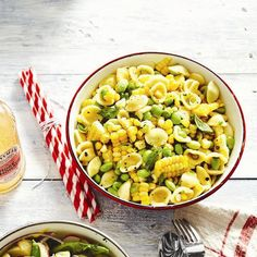 Celebrate the season with a delicious Summer corn-pasta salad. Find more side-dish recipes at Chatelaine.com.