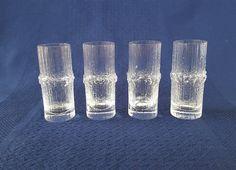 Iittala Glass, Niva Shot glasses set of 4 designed by Vintage Kitchenware, Shot Glasses, Nature Pictures, Glass Vase, Nostalgia, Dishes, Mugs, Stone, Design