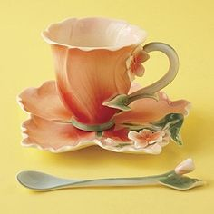 flower shaped teacups by candy Jackness