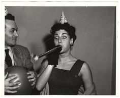 Photo by Weegee, ca. Happy Birthday Vintage, Happy Birthday To Us, It's Your Birthday, Girl Birthday, Birthday Greetings, Birthday Wishes, Weegee, People Having Fun, Happy B Day