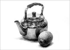 질감 bb Still Life Sketch, Still Life Drawing, Metal Drawing, Object Drawing, Pencil Art, Pencil Drawings, Art Drawings, Charcoal Sketch, Figure Sketching
