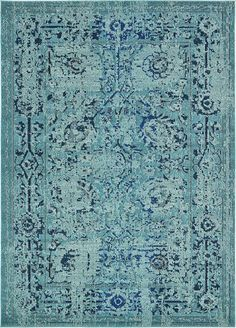 Light Blue Casablanca Area Rug