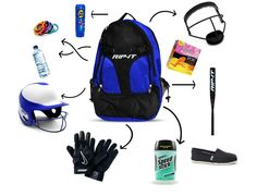 Softball Tournament Packing Checklist: 10 Things to Always Have in your Bat Bag Girls Softball Bags, Softball Gear, Softball Tournaments, Baseball Tournament, Softball Equipment, Softball Mom, Softball Players, Volleyball, Softball Things