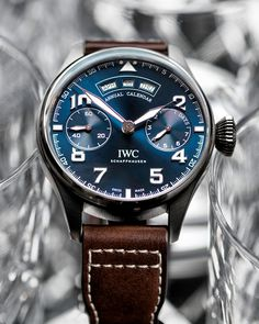 "IWC Big Pilot's Watch Annual Calendar Edition ""Le Petit Prince"" Ref. IW502703 #IWCPilot #IWCBlueDial #IWCWatches"