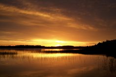 Lake Kyrösjärvi by night