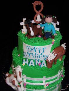 Girl with Horses Cake-GoochieGourmet.com