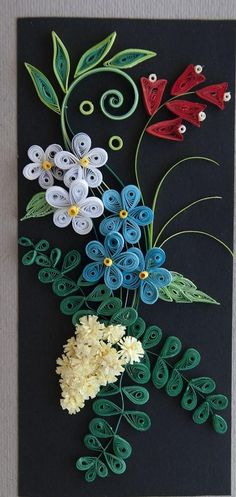 floral-quilling-ideas -  I think I could come close to this