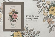 Botanical Illustration Black And White, Wild Flower Arrangements, Transparent Design, Photoshop Design, Romantic Flowers, Vintage Flowers, Line Art, Wild Flowers, Hand Drawn