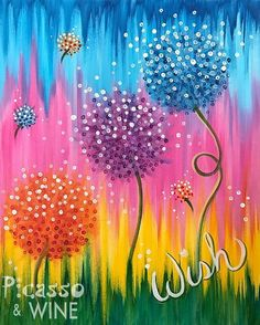 Canvas art diy kids backgrounds 29 Ideas for 2019 Spring Painting, Dot Painting, Acrylic Painting Canvas, Painting & Drawing, Dandelion Painting, Image Painting, Canvas Paintings For Kids, Easy Acrylic Paintings, Spring Drawing