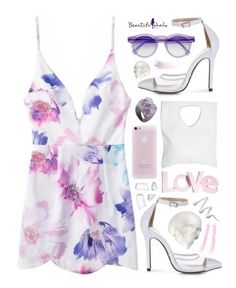 """""""Beautifulhalo"""" by ruska-10 ❤ liked on Polyvore featuring Jennifer Haley, Decadorn, NARS Cosmetics, H&M, Topshop and bhalo"""