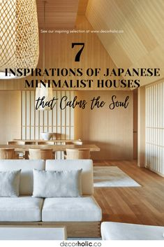 Zen philosophy in Japan is not only limited to individuals but also spread to the interior world in the form of Japanese minimalist home interiors. Design principles that emphasize the impression of simplicity and calm, aim to bring focus and peace in the form of modern interiors. #decorholic #japanesehome #japaneseminimalisthouse #minimalisthouse #japanesestyle #zenliving #interiordesign