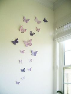 Dorm Room Diy Wall Decor home gym wall decor.Nursery Wall Decor Baby Names. Butterfly Bedroom, Butterfly Wall Decor, Butterfly Decorations, Wall Decorations, Purple Butterfly Nursery, Purple Room Decorations, Diy Butterfly, Wedding Decorations, Nursery Room