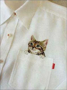 귀여운 셔츠 포켓