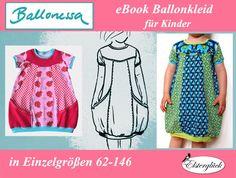 Kindermode - eBook BALLONESSA Schnittmuster Mädchen Ballonkleid - ein Designerstück von Elsterglueck bei DaWanda