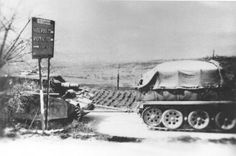 https://flic.kr/p/K3Nedm | A Sturmpanzer being towed by an Sd.Kfz. 9. | Sturmpanzer Abteilung 216, road march to Pisa. On April 4th 1944 Sturmpanzer Abteilung 216 received orders transferring them to Army Group Reserves and ordering them to the area of Pisa-Lucca. Info Photo: www.facebook.com/groups/wwwrecks/