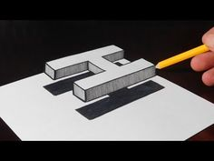 How to Draw a 3D Letter H - Trick Art on Paper - YouTube