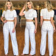 Classy Outfits, Sexy Outfits, Casual Outfits, Girl Outfits, Cute Outfits, Prom Dresses With Sleeves, Plus Dresses, Plazzo Pants Outfit, Checkered Outfit