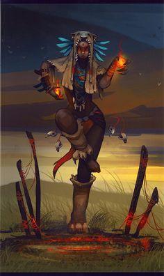 A Ninth Sky witch dances for the elements. #MetalShadow | Bear Totem Lunar - Ember by *Zephyri on deviantART