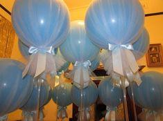 Декорирование воздушных шаров сеткой или органзой