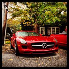 Sunday drives at Caffeine and Carburetors. #Mercedes #Benz #AMG #SLS