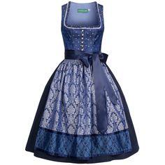 Midi Dirndl Susanne in Blau von Country Line: Amazon.de: Bekleidung