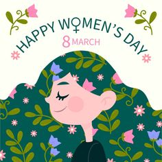 Discover thousands of free-copyright vectors on Freepik Women's Day 8 March, 8th Of March, Happy Woman Day, Happy Women, Hair Illustration, Clay Art Projects, Illustrator Tutorials, Ladies Day, Easy Drawings