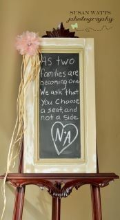 Chalkboard  wood shutter shabby chic great for a wedding, home decor, or event