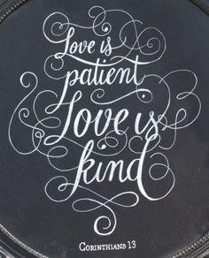 ... Chalkboard // Wedding Sign // Anniversary Gift // Corinthians 13 Quote