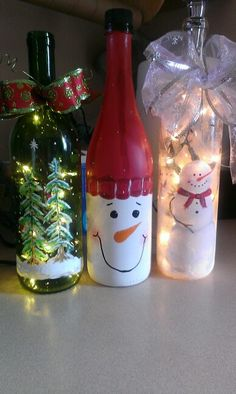 My wine bottle lights
