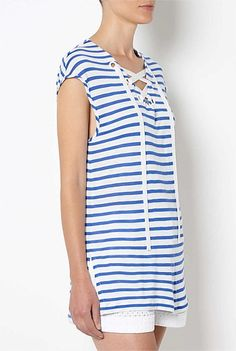Lace Up Neck Tee