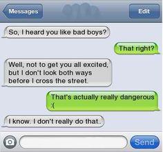 Lol o.o :I my boyfriend just goes and walks across da street O.O