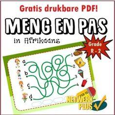 GRATIS Meng en pas (verbind) in Afrikaans - reg om te druk PDF - Teacha! Web Address, Free Activities, Activity Sheets, Afrikaans, Primary School, Teaching Resources, Pdf, Teacher, Words