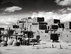 Taos - Taos Pueblo. Taos Pueblo is the only living Native American community designated both a World Heritage Site by UNESCO and a National Historic Landmark.