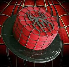Spiderman cake- I think I will be doing this for Hunter's birthday.