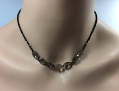 Smoky Quartz and Black Spinel Necklace in Sterling Silver by DecemberMae on Etsy https://www.etsy.com/listing/562901671/smoky-quartz-and-black-spinel-necklace