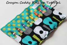 The Traveling Tot: Sewing Tutorial : Crayon Roll w/ Button and Elasti...