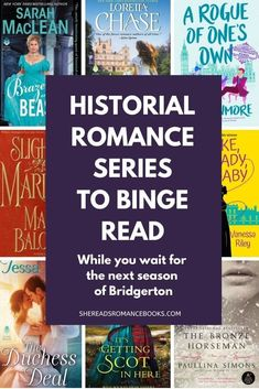 Discover the best historical romance series to read while you wait for the next Bridgerton TV series to premiere. These historical romance series will immerse you in a new world back in time while lovers find their happily ever after. Good Romance Books, Romance Movies, Historical Romance Authors, Book Boyfriends, Book Recommendations, Book Lists, Tv Series, Reading, Lovers