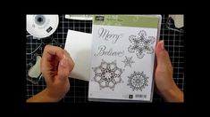 Snowflake Soiree One Layer Card Stampin' Up tutorial