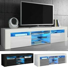 You can place the modern TV stand in your lounge room, living room, bedroom and more places. The unit is made of high quality MDF, front panels are presented with a high gloss finish. Fit for (TV): LCD, Flat, 3D, LED TV etc. High Gloss Tv Unit, Coffee Table High Gloss, Tv Stand Sideboard, Modern Tv Units, Lounge, The Unit, Led, Living Room, Bedroom