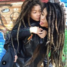These two!  @cinfsato -- Max and I are on a loc journey together as well, so this will be interesting! So much to look forward to!! #locs #freeformlocs #inspiration #naturalhair